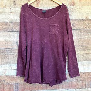 Torrid Distressed Long Sleeve Pullover Tee